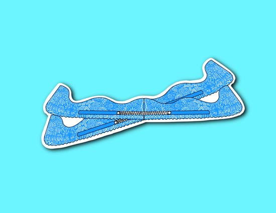 Picture of Blue Skate Guards Sticker *PRE-ORDER*